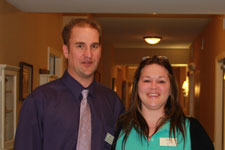 Ann Blair with Resident Care Director Matthew George