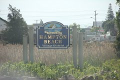 Hampton beach sign